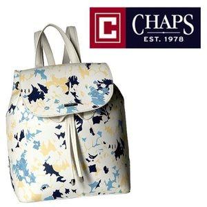 CHAPS Ralph Lauren White DINAH Floral Backpack Bag